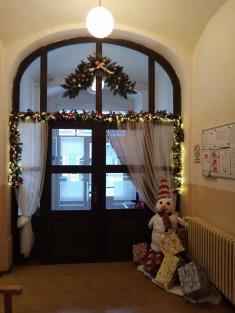 vánoční koutek usesterny